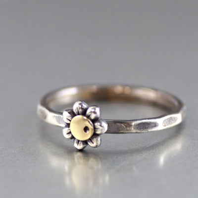 Summer Wild Flower Sterling Silver Ring-Womens-LittleGreenRoomJewelry-LittleGreenRoomJewelry