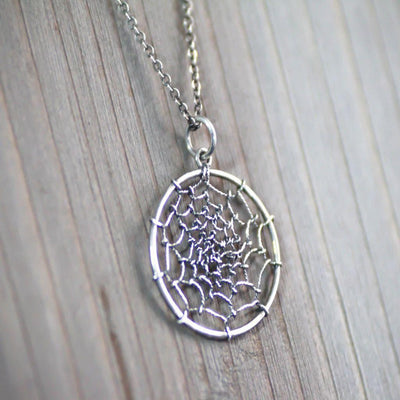 Sterling Silver Dream Catcher Necklace-Womens-LittleGreenRoomJewelry-LittleGreenRoomJewelry