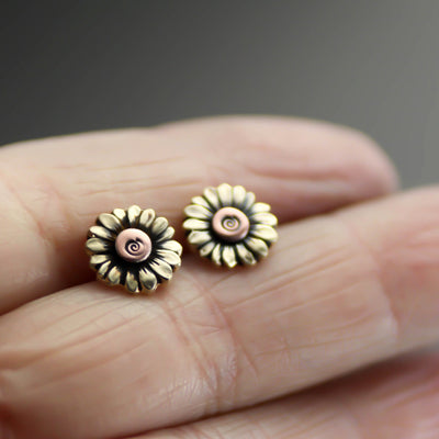 Mammoth Sunflower Earrings-Womens-LittleGreenRoomJewelry-LittleGreenRoomJewelry