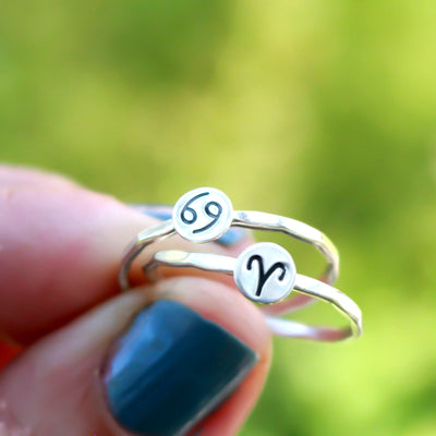 Zodiac Astrology Symbol Rings-Womens-LittleGreenRoomJewelry-LittleGreenRoomJewelry