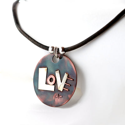 Love Out Loud Mixed Metal Necklace-Womens-LittleGreenRoomJewelry-LittleGreenRoomJewelry