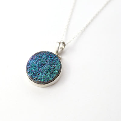 Stardust Druzy Quartz Necklace-Womens-LittleGreenRoomJewelry-LittleGreenRoomJewelry