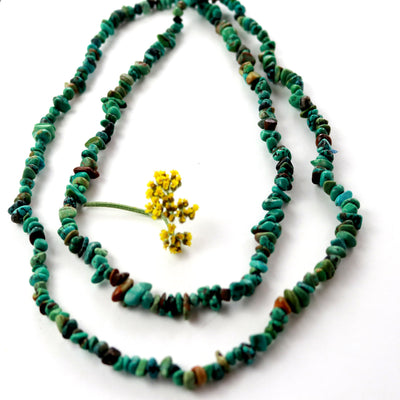 Endless Turquoise Rope Necklace-Womens-LittleGreenRoomJewelry-LittleGreenRoomJewelry