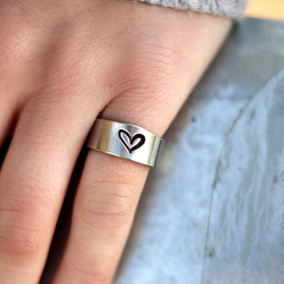 Soulful Heart Ring-Womens-LittleGreenRoomJewelry-LittleGreenRoomJewelry