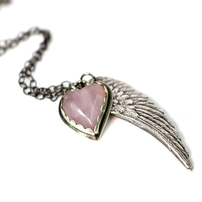 Sweet Angel Wing Necklace-Womens-LittleGreenRoomJewelry-LittleGreenRoomJewelry