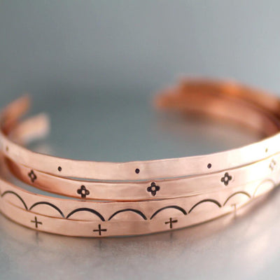 Boho Copper Cuff Bracelet-Womens-LittleGreenRoomJewelry-LittleGreenRoomJewelry