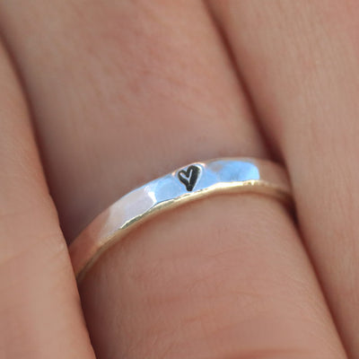 True Love Tiny Heart Ring-Womens-LittleGreenRoomJewelry-LittleGreenRoomJewelry