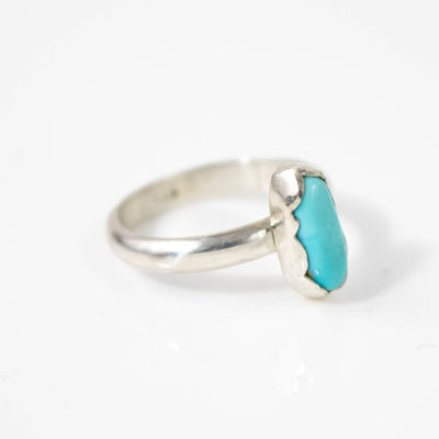 South Hill Oval Blue Turquoise Ring-Womens-LittleGreenRoomJewelry-LittleGreenRoomJewelry