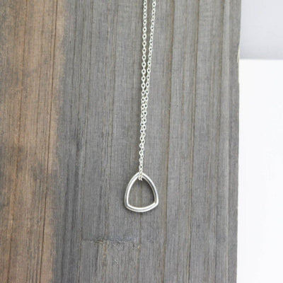 Sterling Silver Mod Triangle Necklace-womens-LittleGreenRoomJewelry-LittleGreenRoomJewelry