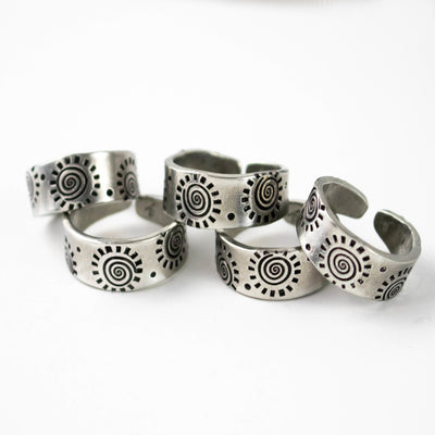 Aritsan Sun Pewter Adjustable Band-Womens-LittleGreenRoomJewelry-LittleGreenRoomJewelry