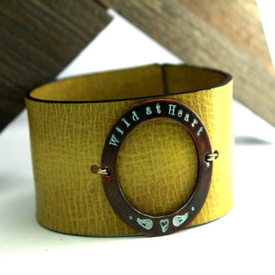 Wild Heart Rustic Leather Cuff Bracelet-Womens Rustic-LittleGreenRoomJewelry-LittleGreenRoomJewelry