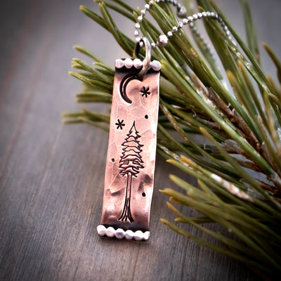 Northwoods Lone Pine Necklace-Womens-LittleGreenRoomJewelry-LittleGreenRoomJewelry