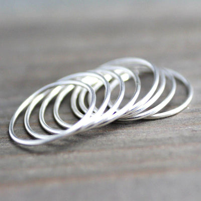 Sterling Silver Midi Rings- Silver Stacking Ring-Choice Of 1 Ring-womens-LittleGreenRoomJewelry-LittleGreenRoomJewelry