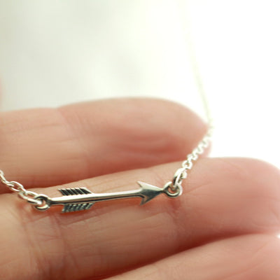 Sterling Silver Arrow Necklace-Womens-LittleGreenRoomJewelry-LittleGreenRoomJewelry
