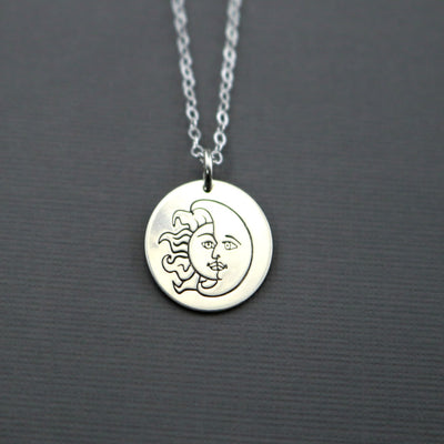 Live By The Sun Love By The Moon Necklace-Womens-LittleGreenRoomJewelry-LittleGreenRoomJewelry