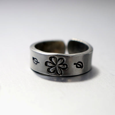 Adjustable Daisy Band Ring-Womens-LittleGreenRoomJewelry-LittleGreenRoomJewelry