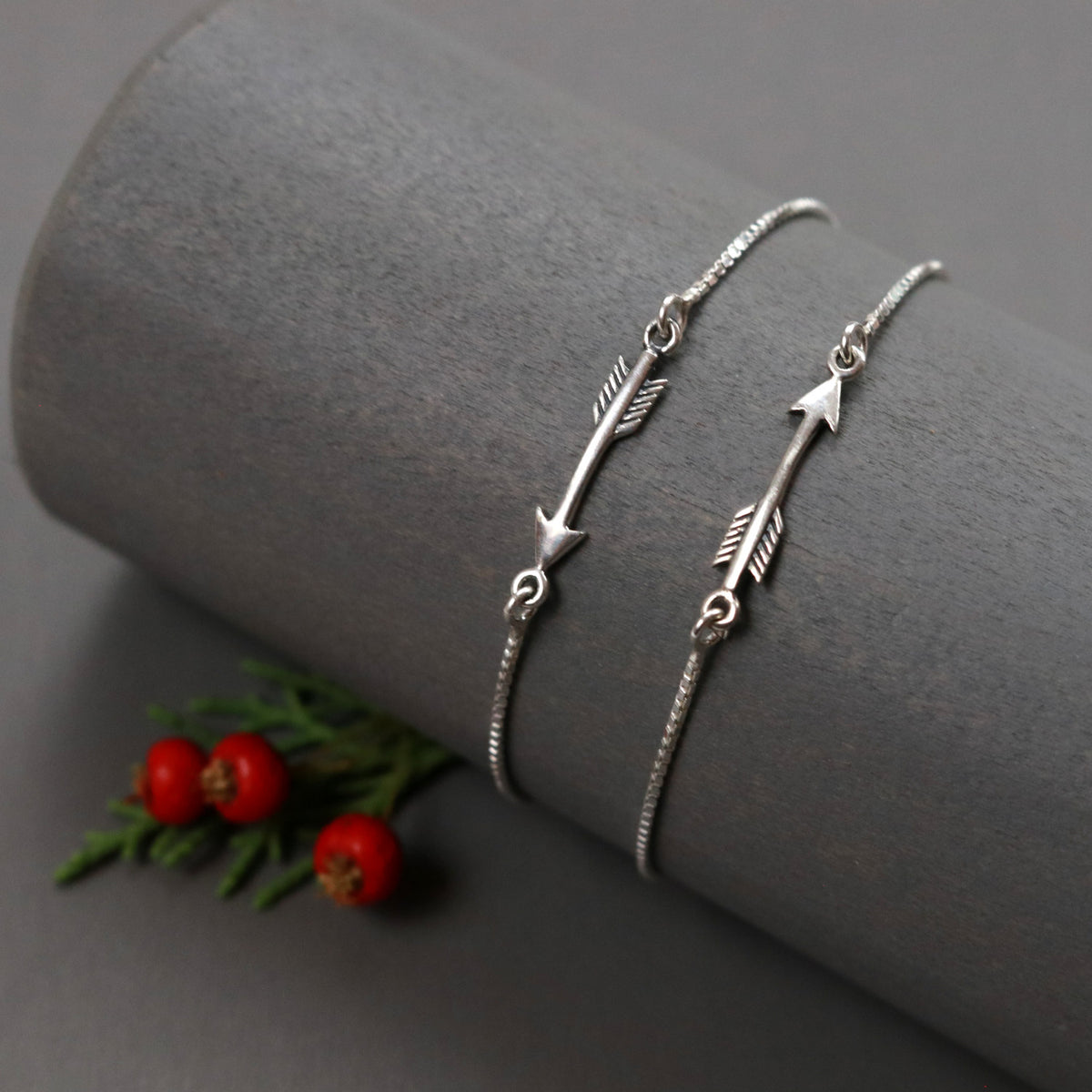 Adjustable Silver Arrow Bracelet-Womens-LittleGreenRoomJewelry-LittleGreenRoomJewelry
