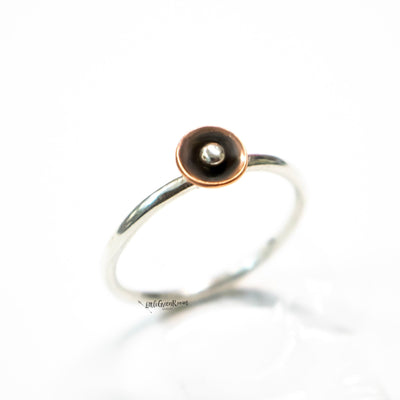 Copper Poppy Stack Ring-Womens-LittleGreenRoomJewelry-LittleGreenRoomJewelry