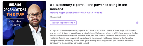 Rosemary Ikpeme MYnd Map Podcast Leaders Mindfulness