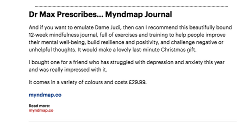 MYnd Map Daily Mail Dr Max
