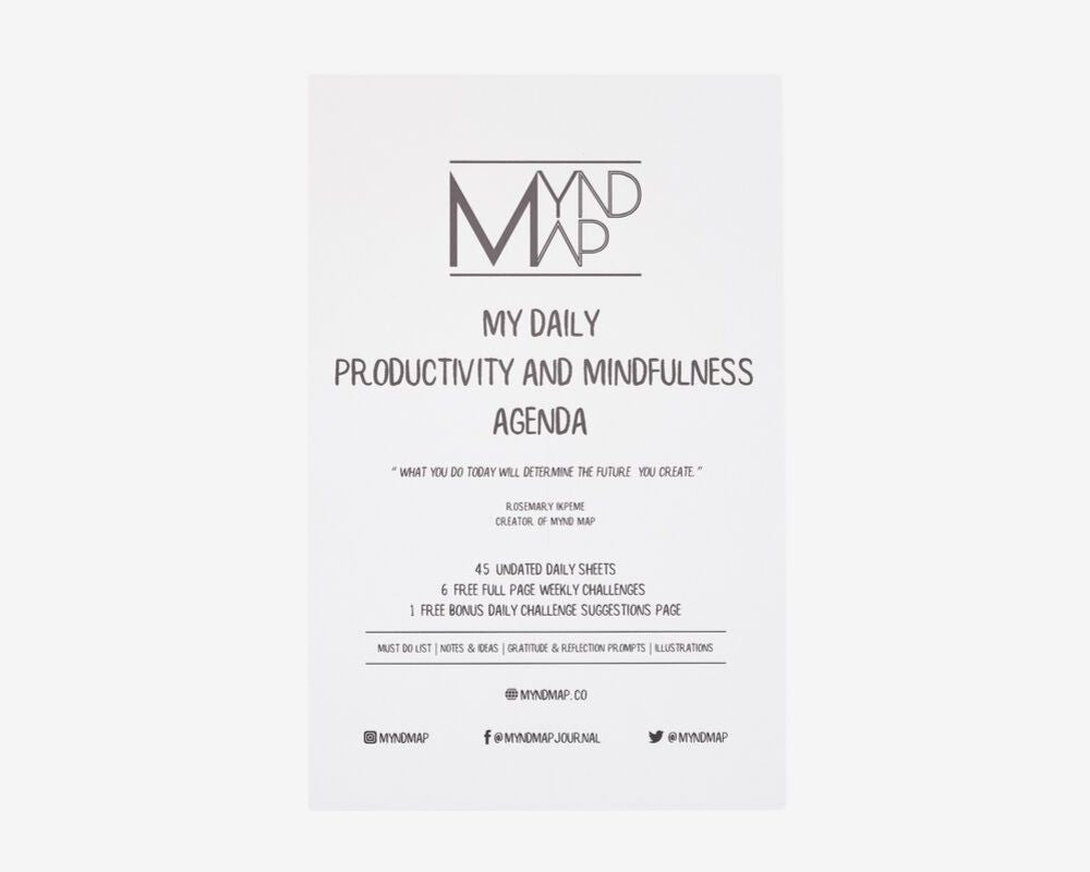 MYnd Map MY Daily Mindfulness and Productivity Agenda