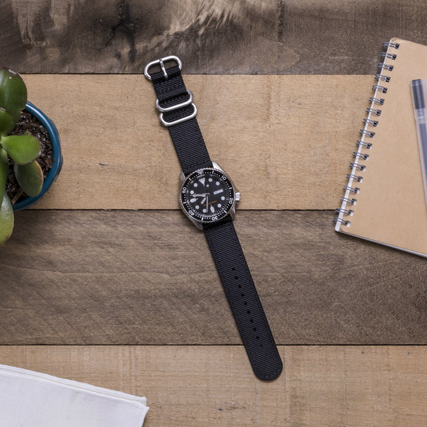 black-ballistic-nylon-2-piece-zulu-watchband