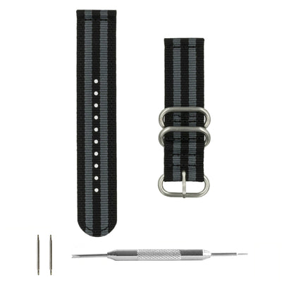 black-gray-ballistic-nylon-2-piece-zulu-watchband