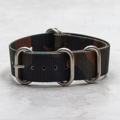 Nylon Zulu (5-Ring)<br> Brown, Green & Black Camo