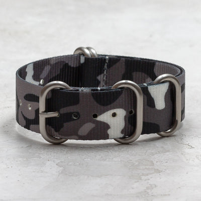 Nylon Zulu (5-Ring)<br> Gray & Black Camo
