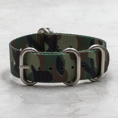 Nylon Zulu (5-Ring)<br> Green, Black & Tan Camo