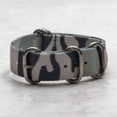Nylon Zulu (5-Ring)<br> White & Gray Camo
