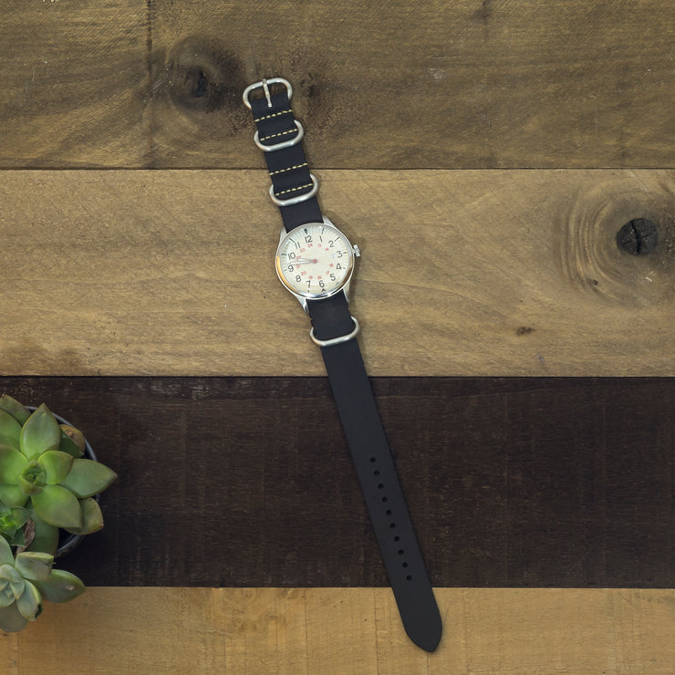black-oiled-leather-zulu-watchband-on-watch