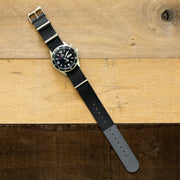 Nylon NATO <br>Black & Gray Color Block