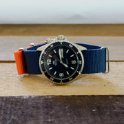 Ballistic Nylon NATO | Navy & Orange Color Block