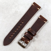 brown nut horween dublin minimalist watchband