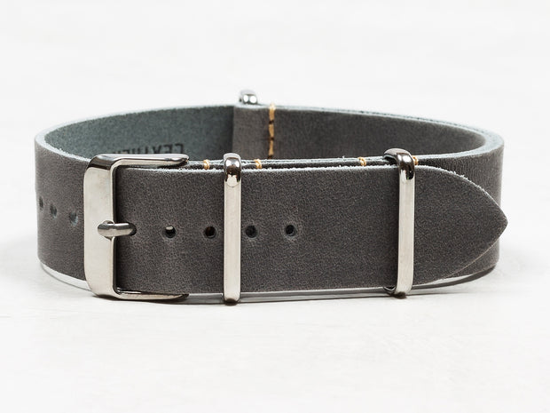 Oiled Leather NATO | Slate Grey