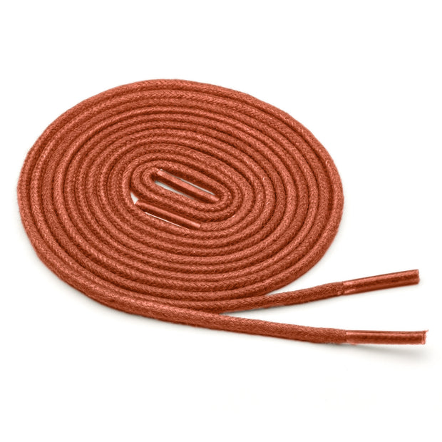 Thin Waxed Cotton Laces (2 Pairs) | Burnt Orange