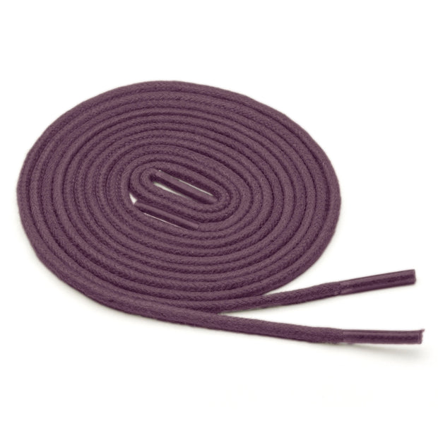 Thin Waxed Cotton Laces (2 Pairs) | Eggplant