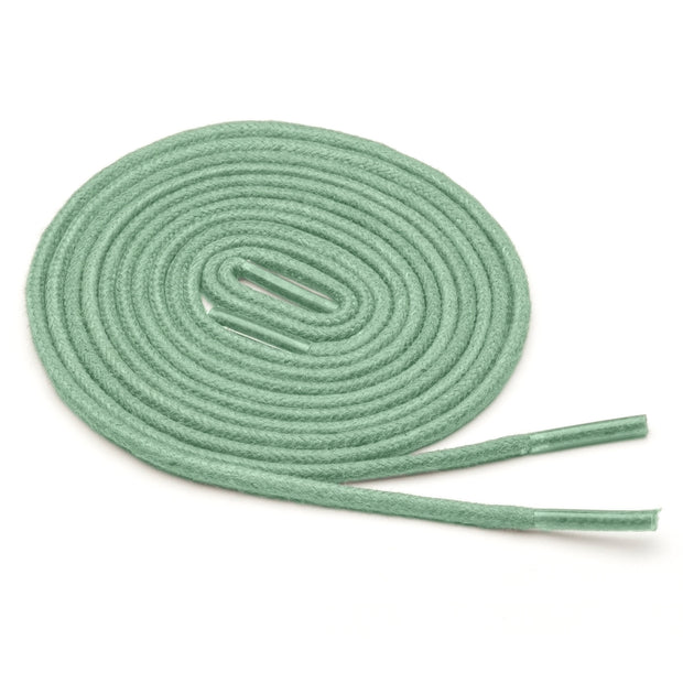 Thin Waxed Cotton Laces (2 Pairs) | Mint Green