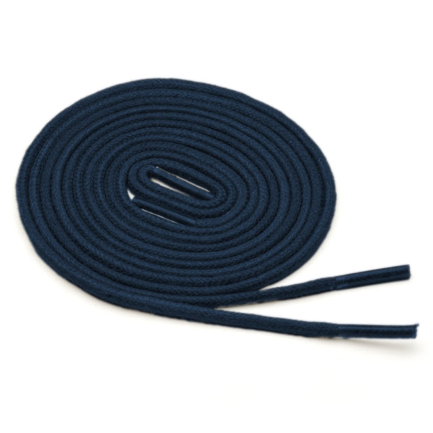 Thin Waxed Cotton Laces (2 Pairs) | Navy Blue