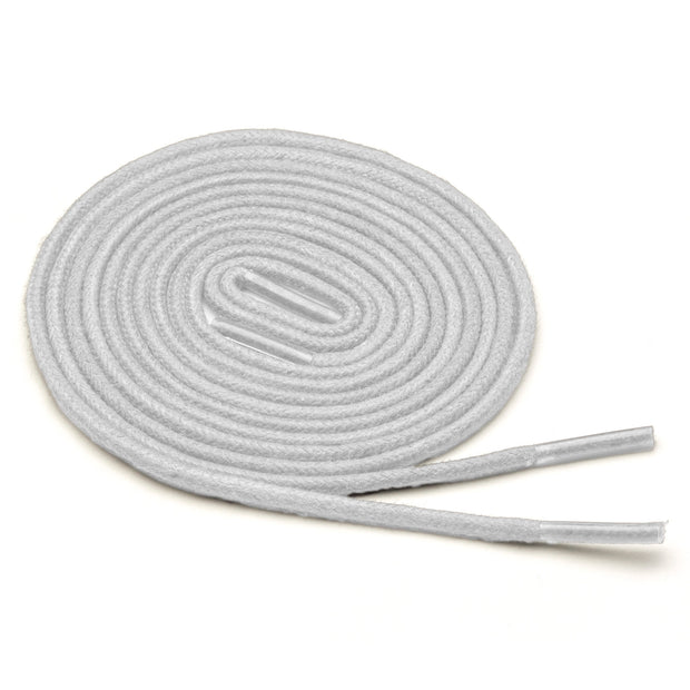 Thin Waxed Cotton Laces (2 Pairs) | White