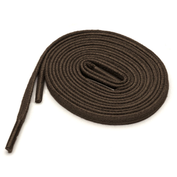 Flat Waxed Cotton Laces (2 Pairs) | Dark Brown