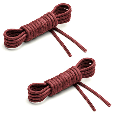 Thin Waxed Cotton Laces (2 Pairs) | Brick Red