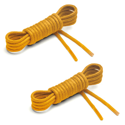 Thin Waxed Cotton Laces (2 Pairs) | Lemon