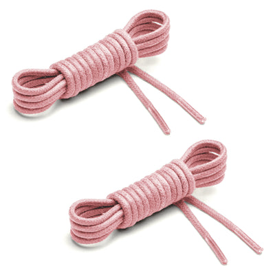 Thin Waxed Cotton Laces (2 Pairs) | Pink