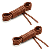 Thin Waxed Cotton Laces (2 Pairs) | Walnut
