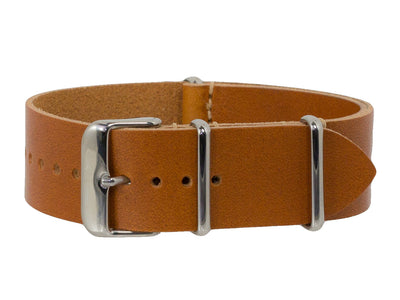 Veg Tan Leather NATO <br> Light Brown