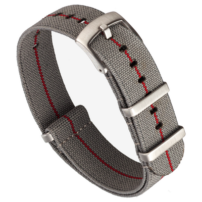 Elastic NATO | Grey & Red