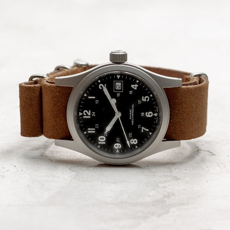 Suede NATO <br>Dark Brown