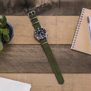 army-green-ballistic-nylon-nato-watchband-on-watch